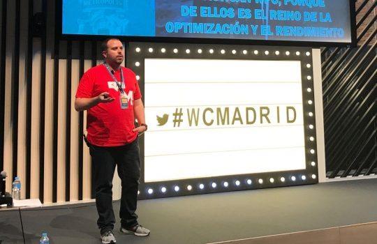 Pablo López en la WordCamp Madrid. Fotografía deEric Zeidan