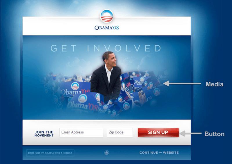 Obama Homepage original