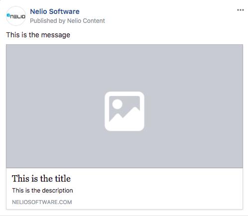 Mensaje en Facebook con información correcta pero cuya imagen devuelve un error 404 y por eso no aparece.