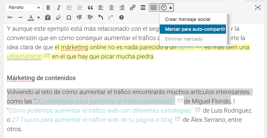 Autocompartir con Social Automations