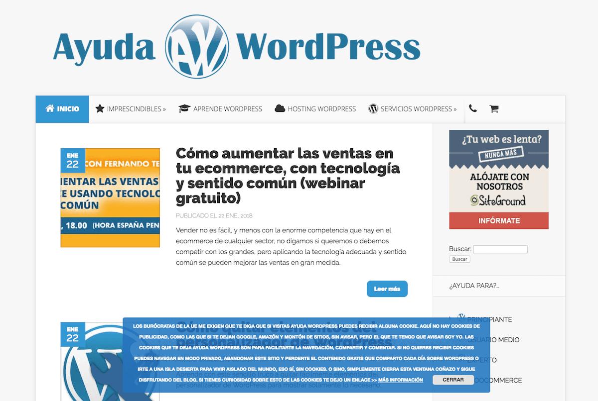 Web de AyudaWP