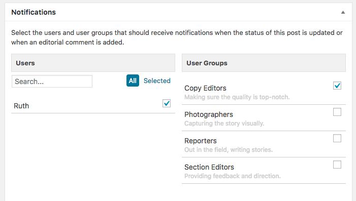 Notificaciones en Edit Flow