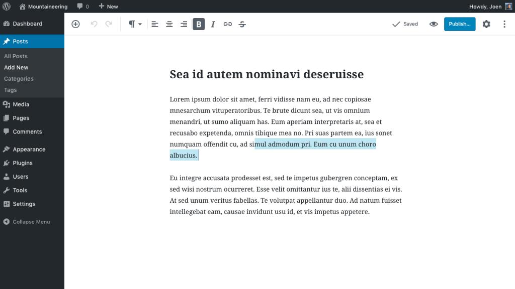 Gutenberg es el nuevo editor de contenido de WordPress, que sustituye al actual.