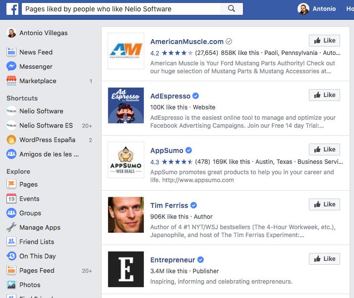 Si quieres saber qué les gusta a aquellos que indican que les gusta tu página, sólo has de preguntárselo directamente a Facebook.