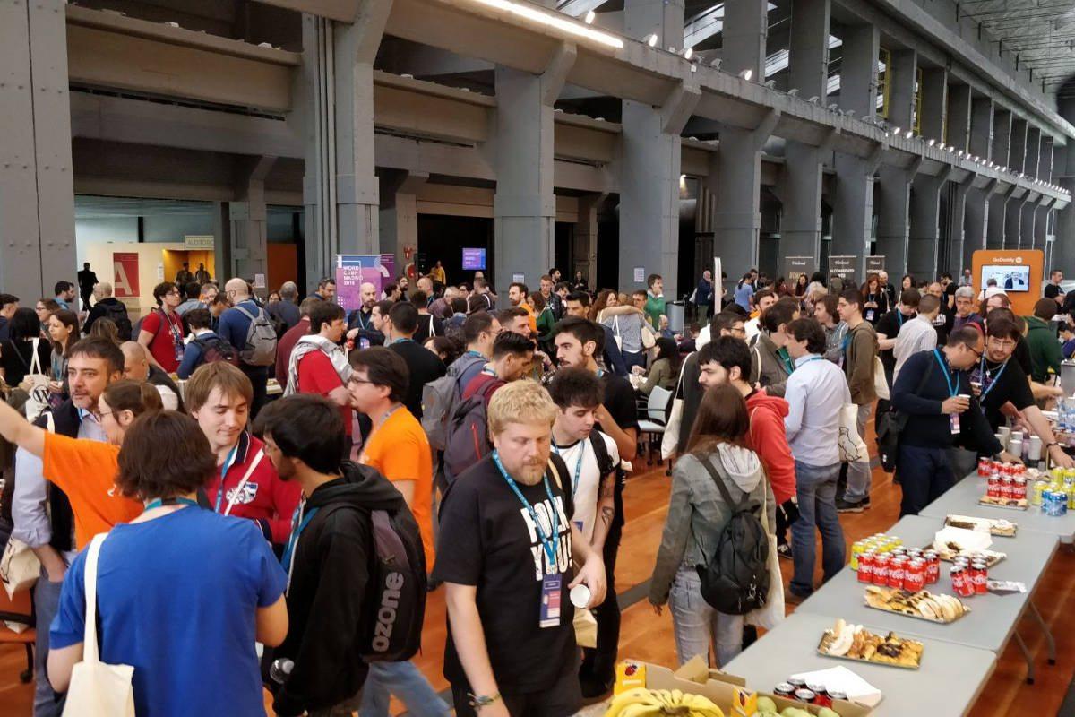 Hora del café en la WordCamp Madrid 2018