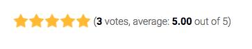 Valoración de una entrada al final del blog.