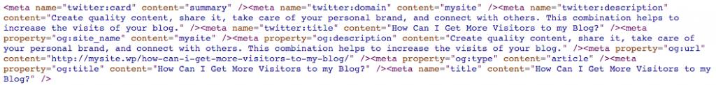 Metadatos añadidos por el plugin WP Meta SEO.