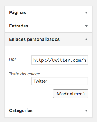 Añadir red social