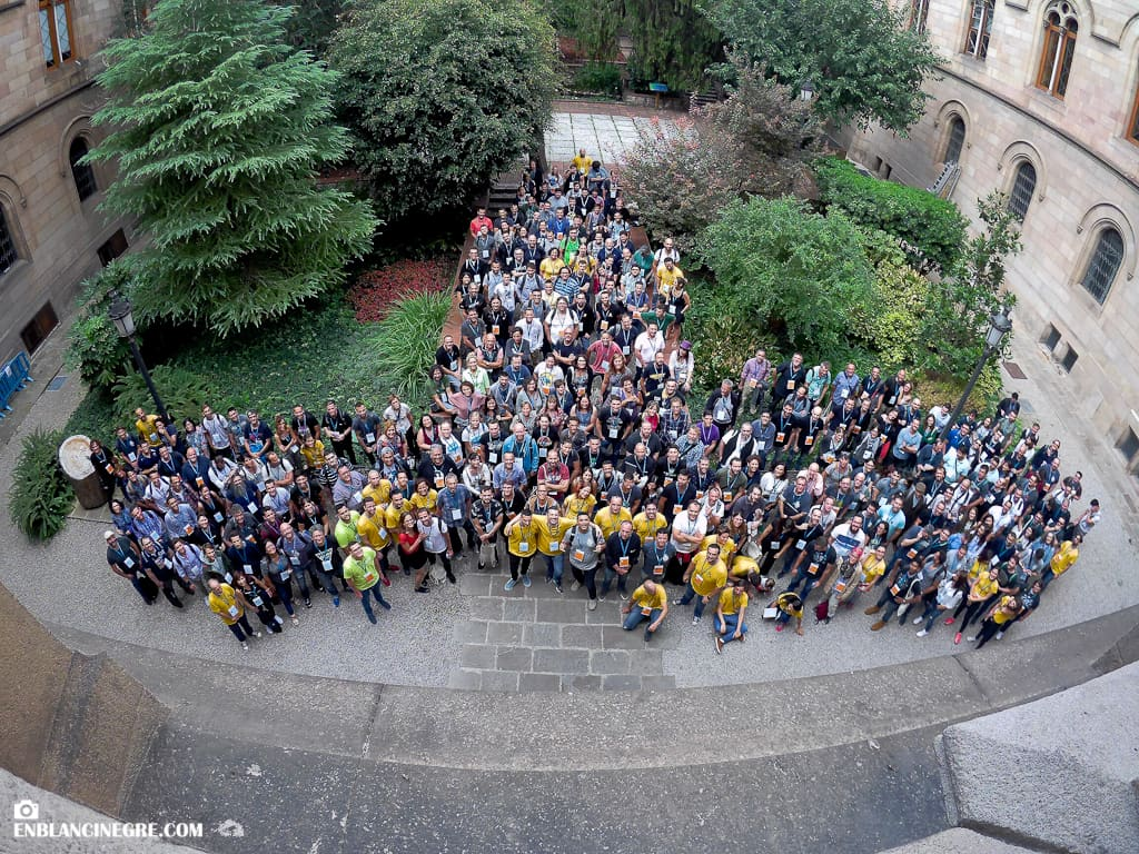 Attendees at the WordCamp Barcelona 2018.