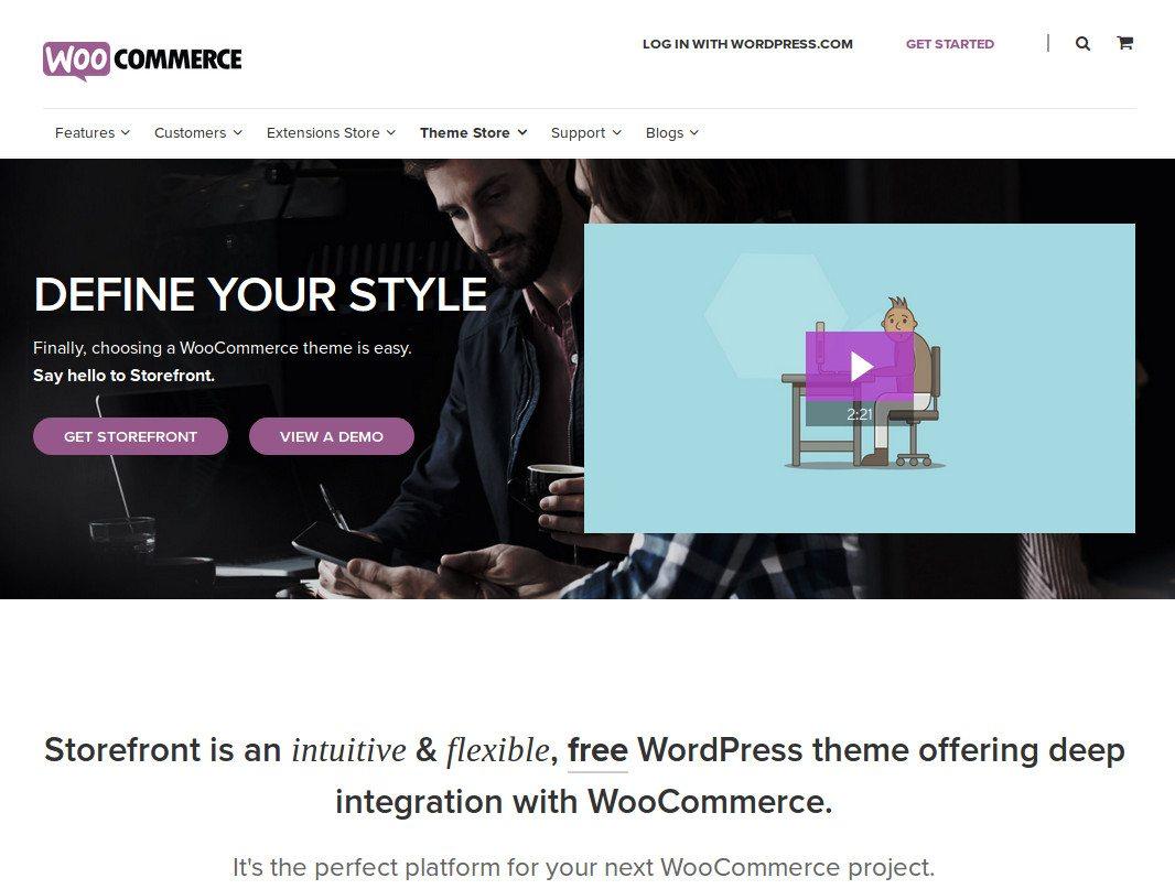 Storefront, el tema oficial de WooCommerce.