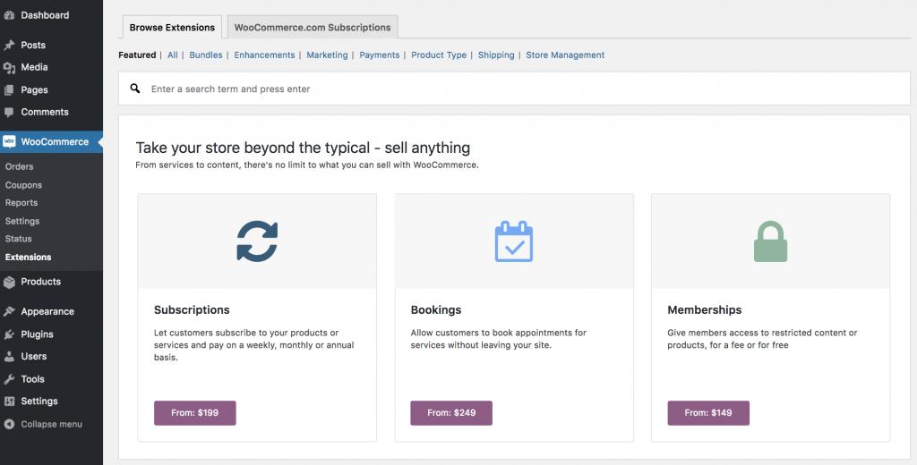 WooCommerce tiene un montón de plugins que te permiten extender sus funcionalidades para adaptar tu tienda a tus necesidades.