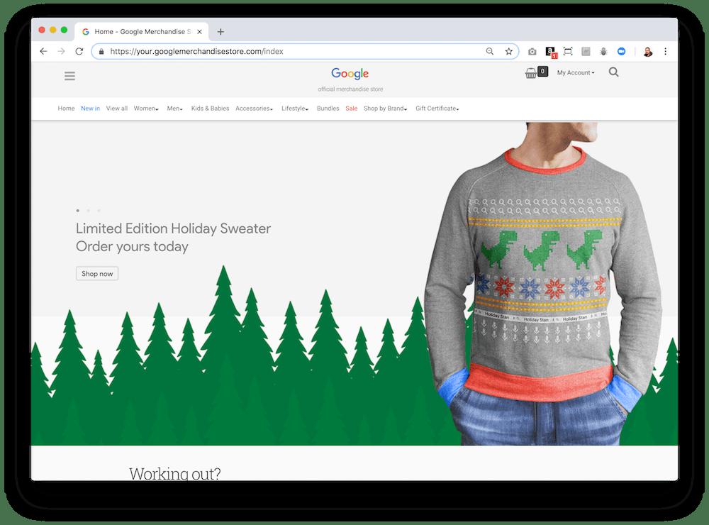En la Google Merchandise Store puedes comprar productos de Google, YouTube o Android.