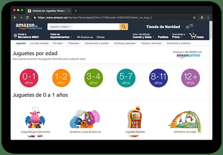 Si tienes una tienda online, asegúrate de que buscar productos en ella es algo intuitivo para el visitante. Así será más fácil que se convierte en un cliente. Un buen ejemplo de ello es la tienda de Amazon.