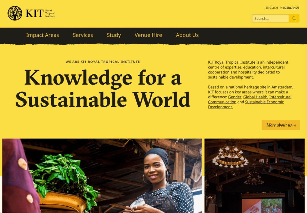 Sitio web de kit.nl