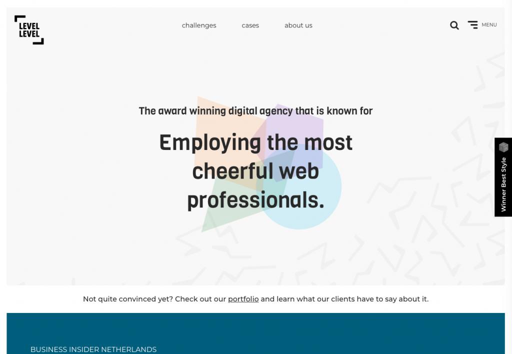 Sitio web de level-level.com