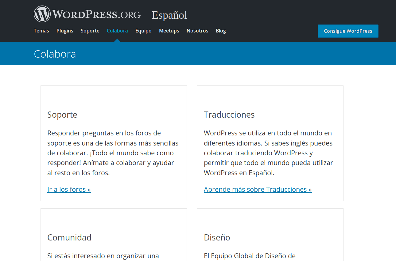 Colabora con WordPress