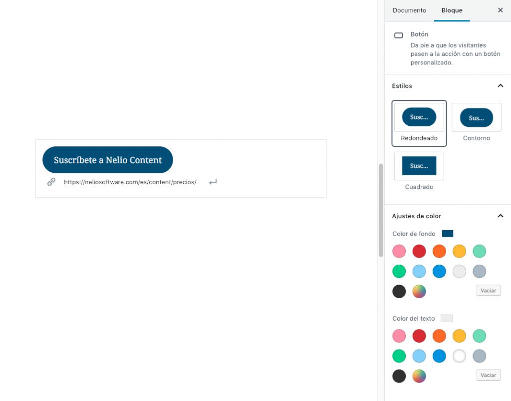 Crear un botón con el editor de bloques