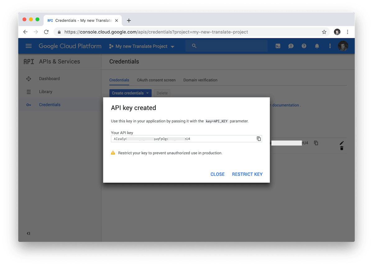 Google Cloud provides us with a new Key API to use Google Translate with our third-party applications.