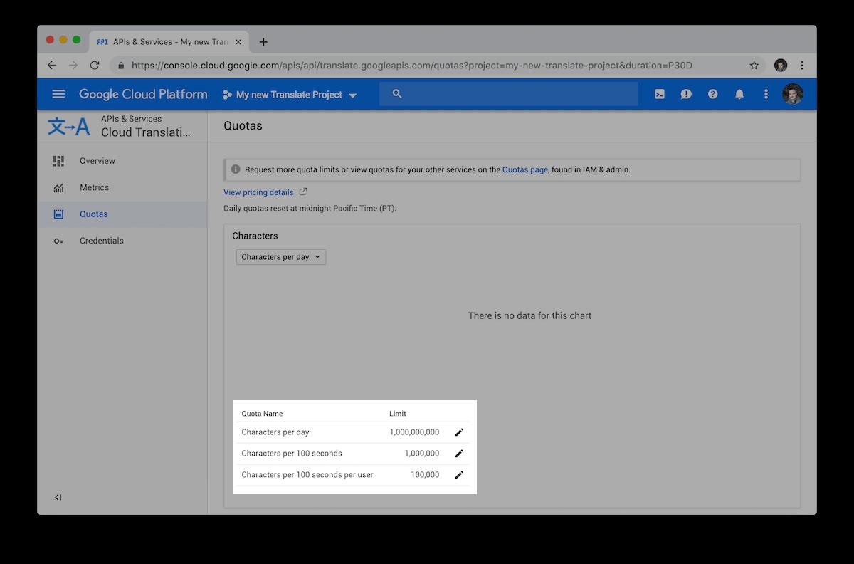 Google Cloud nos permite limitar el uso que hacemos de las APIs para así controlar los consumos máximos que queremos acabar pagando.