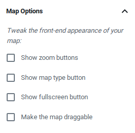 Map buttons
