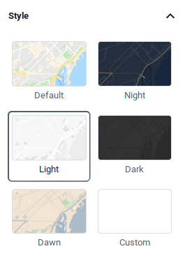 Styles of Google Maps