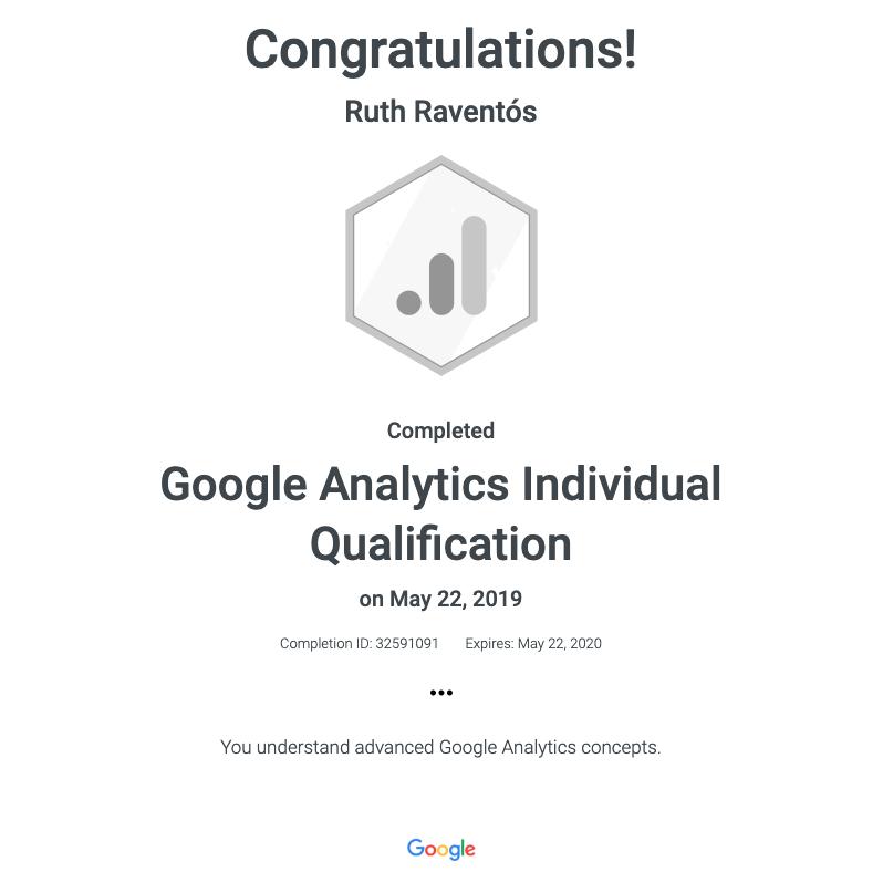 Individual Google Analytics Certificate