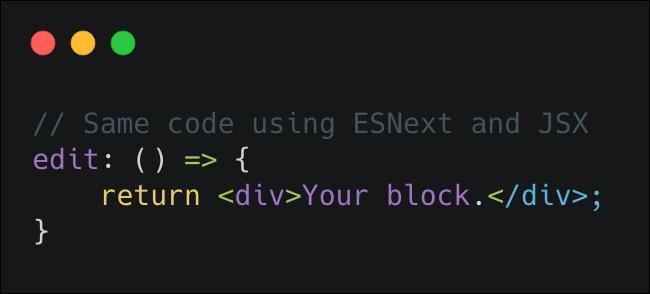 Fragmento de JavaScript usando una funcion con flecha y la sintaxis JSX