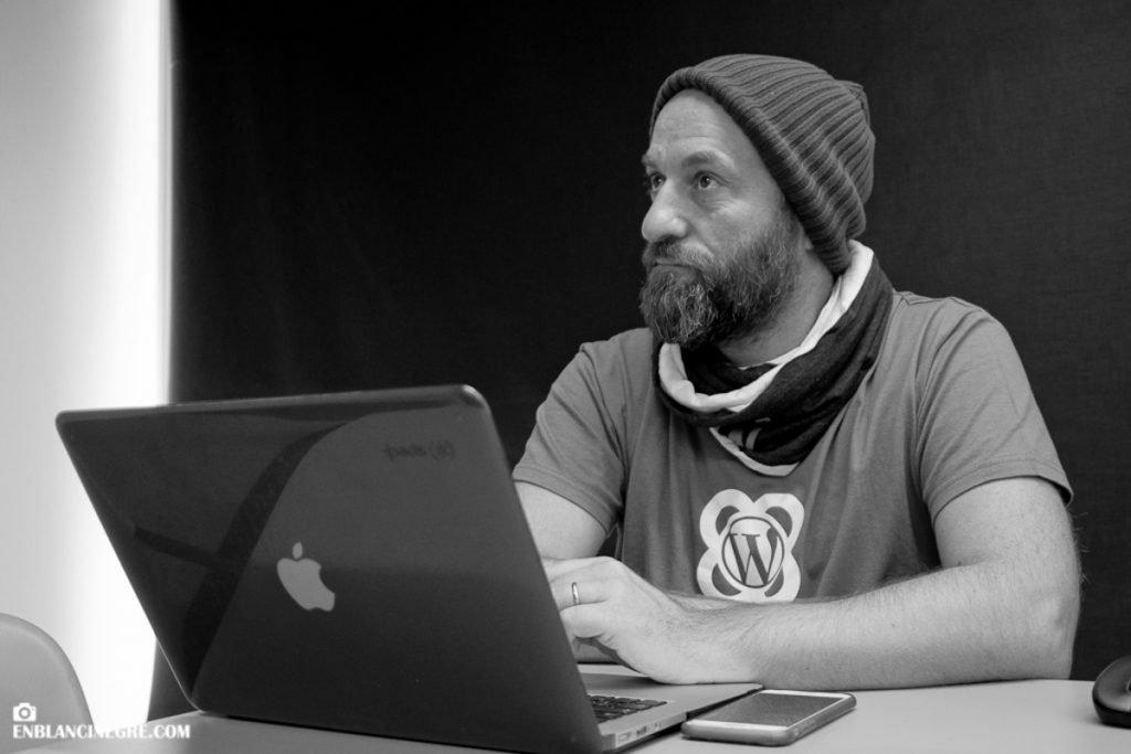 Moncho en el Contributor Day de la WorCamp Barcelona