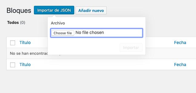 Selecciona archivo JSON
