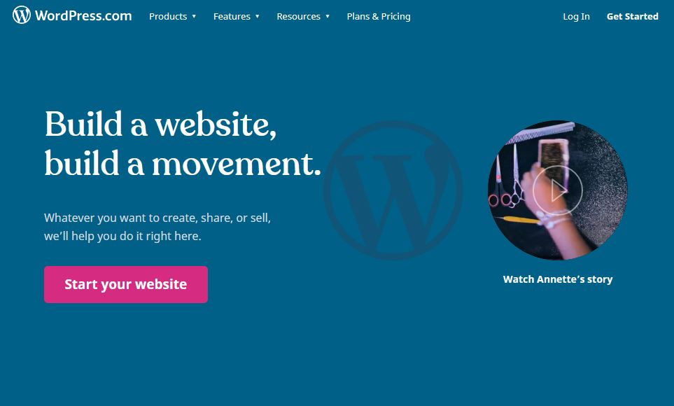 WordPress.com page