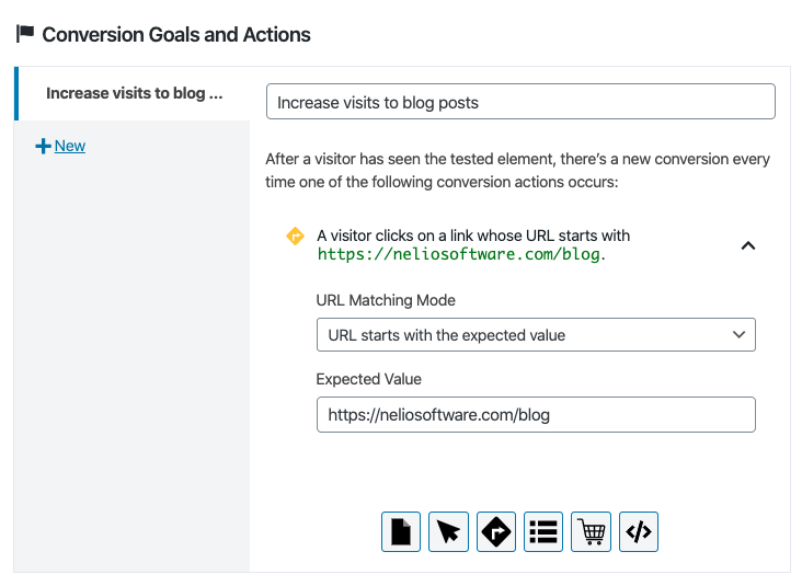 Click on a URL as a conversion action