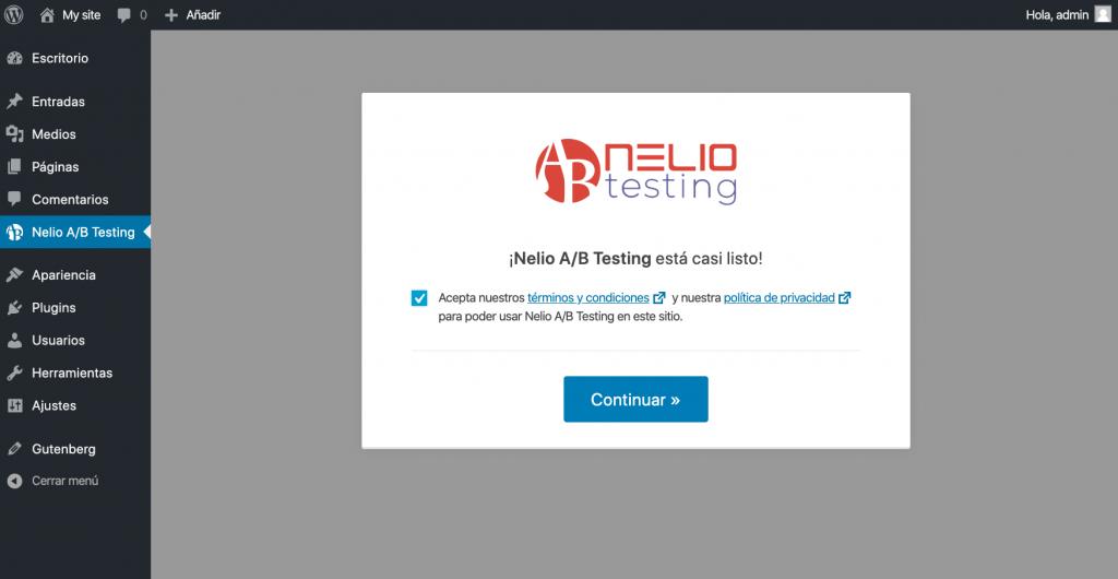 Iniciar Nelio A/B Testing