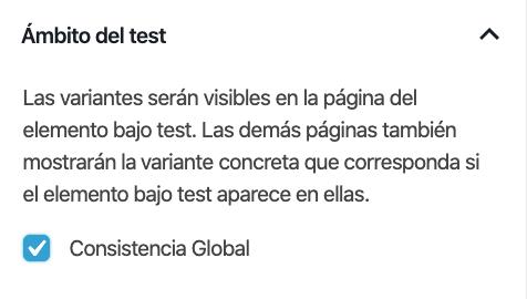 Habilitar consistencia global en un test.