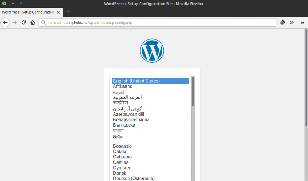 Install WordPress in Country