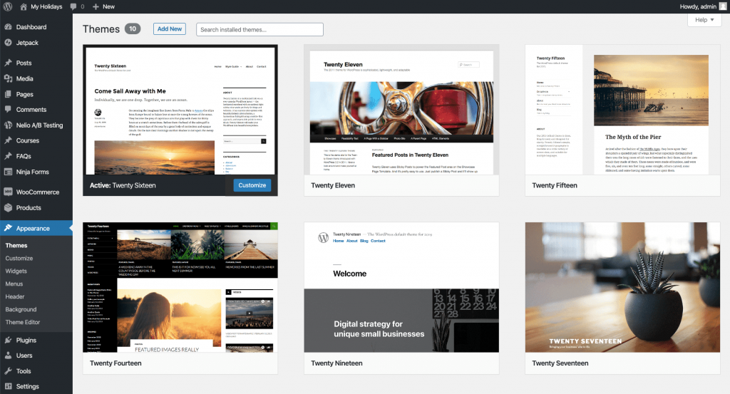 Algunos temas de WordPress