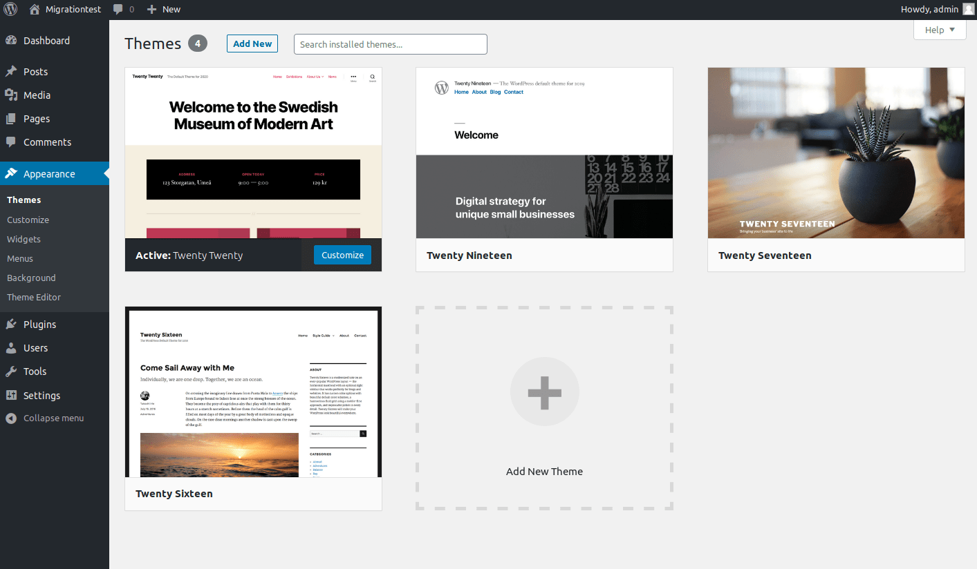 Twenty Twenty theme is the default theme in WordPress 5.3