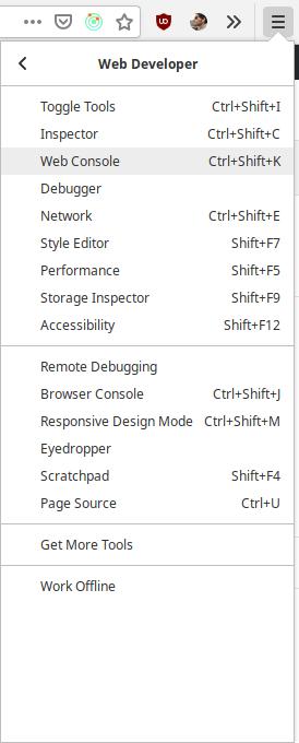 Consola JavaScript en Firefox