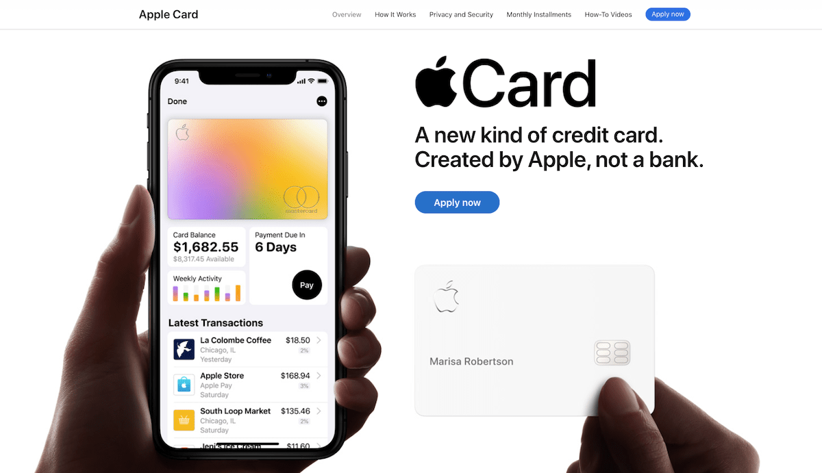Use of gradients on the Apple website.
