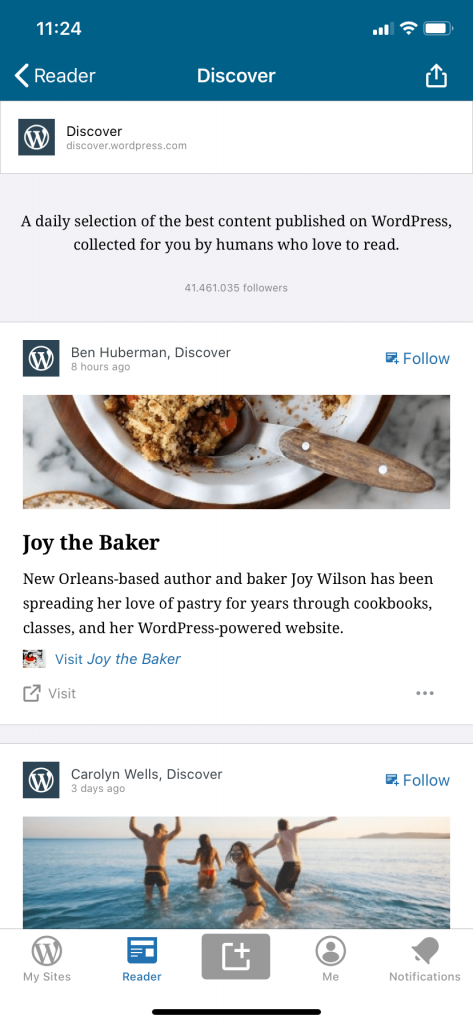 Selection of relevant WordPress content