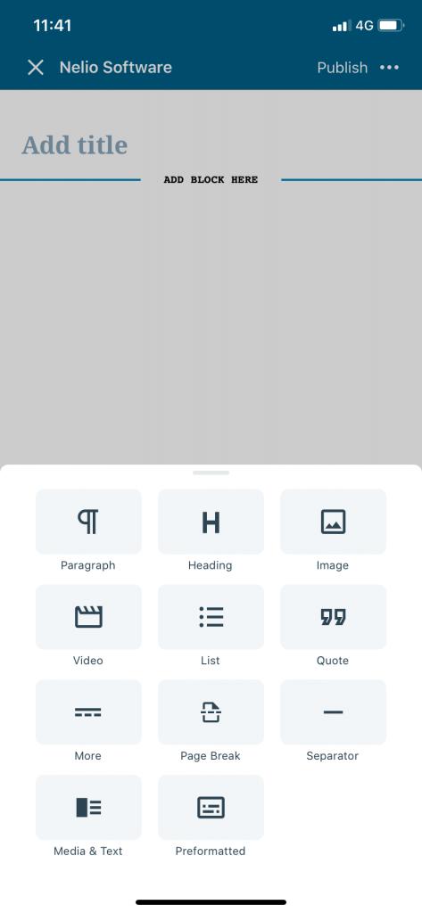 Lista de bloques que puedes utilizar en la app