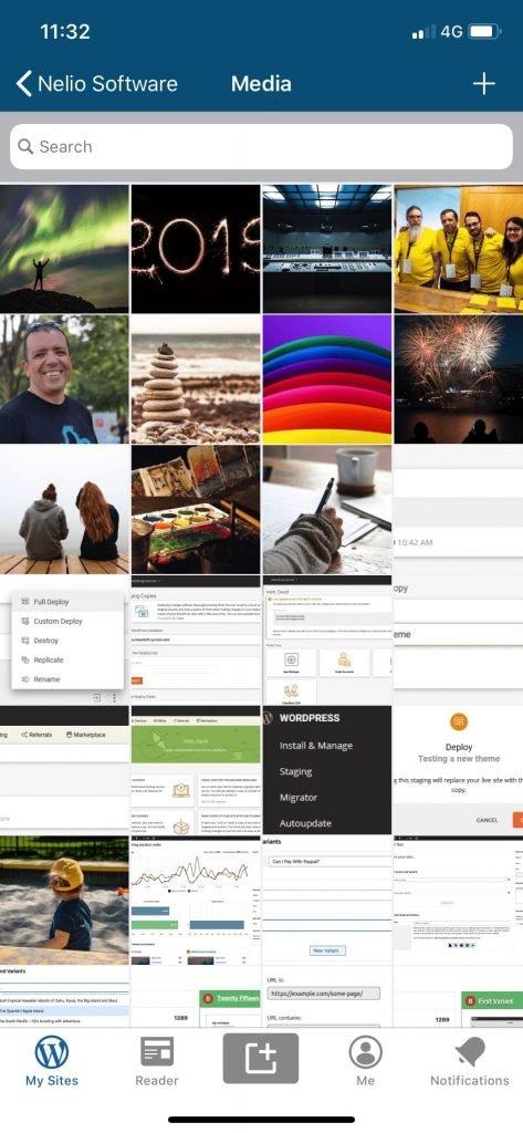 Biblioteca de medios en la app de iPhone