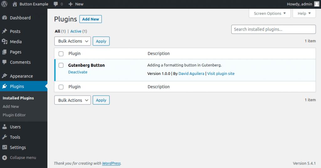 Example plugin to extend Gutenberg
