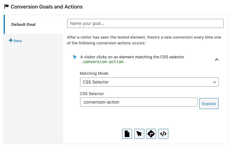 Al utilizar una clase CSS en una acción de clic, recuerda que ha de empezar con un punto.