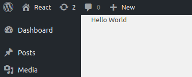 Hello world in our React tutorial