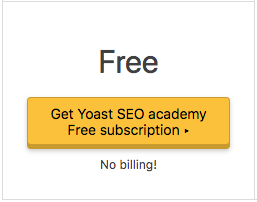 Free Yoast subscription