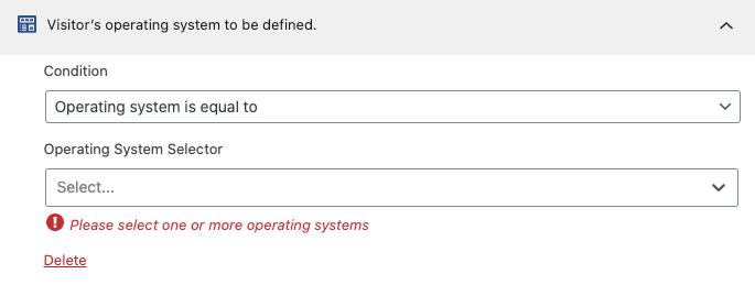 Regla de segmentación de sistema operativo.