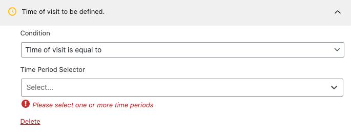Regla de segmentación de periodo de tiempo.