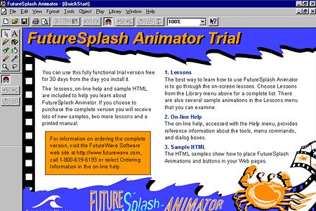 Screenshot of FutureSplash Animator