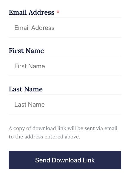 Screenshot of sending download link in Shareablock