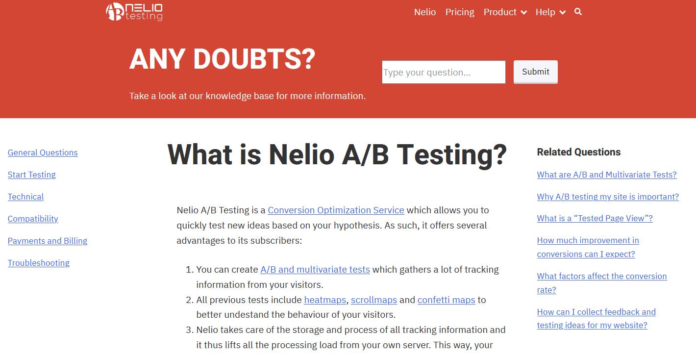 Nelio A/B Testing's Knowledge base